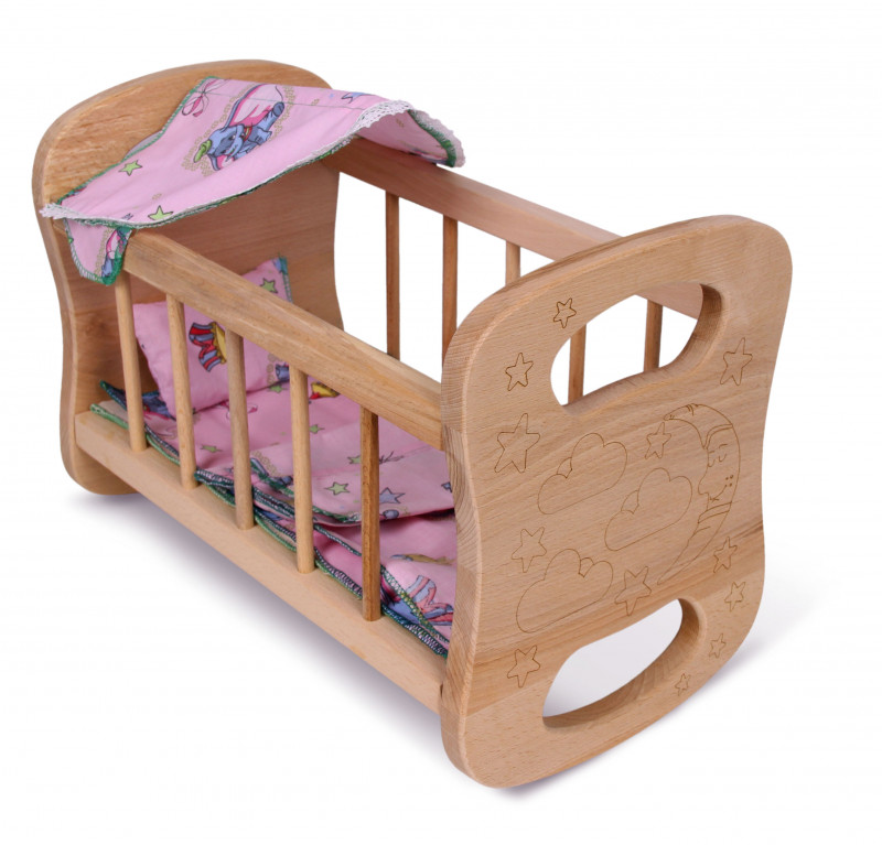 Wooden doll bed #1
